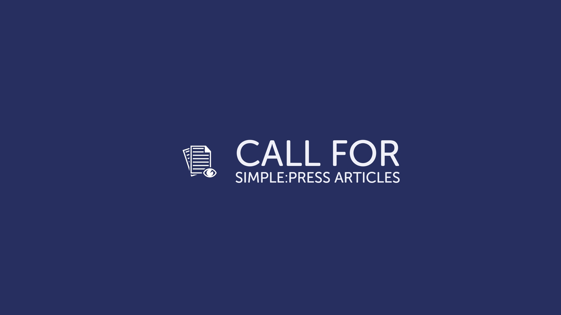 Simple_Press Call For Articles
